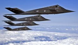 innovative airplane designs | CoolPix - Modern Military: 4 F-117 Nighthawks In Formation: Aviation, Military Aircraft, Air Force, Airplanes, Lockheed F 117, Stealth Fighter, Jet, F 117 Nighthawk