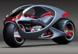 Inspired by musculature, this concept evokes a fluidic sculpture from the upper and lower sections intertwined together. The whole body is made up of materials that stretch and contract just like your muscles do and enables steering without any kind of as