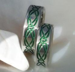 Irish Celtic Titanium Wedding Band Set: Irish Wedding Ideas, Wedding Band Sets, Titanium Wedding Bands, His And Hers Wedding Bands, Matching Wedding Bands, Celtic Titanium, Wedding Engagement Rings, Irish Celtic
