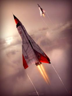 It may not be British, but it loosely related to the #Vulcan. The Avro Arrow CF-105 was a delta-winged interceptor aircraft, designed and built by Avro Canada as the culmination of a design study that began in 1953.: Aviation, Arrows, Aircraft, Cf105, Fig