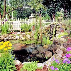 It wouldn't be my dream house without my dream garden and this one fits the bill.  I'm in love with koi ponds and the use of recycled materials in this one make it spectacular and unique.: Water Feature, Shower Heads, Koi Ponds, Outdoor, Water Gar