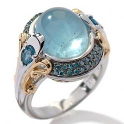 Jewelry Ocean Sea:  Victoria Wieck Milky Aquamarine, Blue Topaz, and Blue Diamond Ring.  Ancient sailors believed that aquamarines protected them at sea.: Blue Topaz, Blue Diamond Rings, Victoria Wieck, Blue Diamonds, Jewelry, Jewels, Wieck Milky, Aquamar