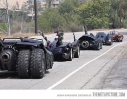 Just all the Batman cars on the road…casual Sunday...: Stuff, Comic, Bats, Cars, Movie, Batman, Photo