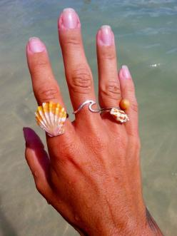 KA HOKU KAI -By: Shanda's Hawaiian Designs    A thick, sturdy Sterling Silver or 14K Gold fill wire, hand formed into a solid band wave.: Solid Sterling, 14K Gold, Silver 14K, Sterling Silver, Gold Rings, Rings Silver, Gold Wave Ring
