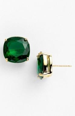 kate spade new york stud earrings (Save Now through 12/9) available at #Nordstrom: Emerald Earrings Studs, Square Stud, Emerald Green Earrings, Stud Earrings, Earrings Save, New York, Kate Spade Earrings Stud