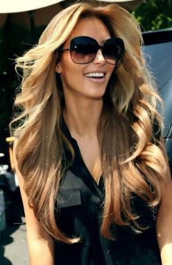 kim kardashian makes me wanna lighten my hair.: Hair Ideas, Hair Colors, Blonde, Hairstyles, Hair Styles, Kim Kardashian, Haircolor, Makeup, Beauty