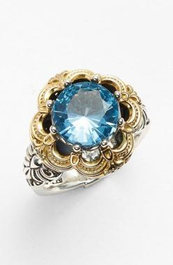 Konstantino 'Hermione' Semiprecious Stone Ring available at #Nordstrom: Konstantino Hermione, Blue Gold, Nordstrom, Beautiful Jewelry, Gold Silver, Princess Rings, Stone Rings, Stones