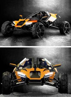 KTM AX Concept - at would be a cool post apoc ride! Slap an electric motor in there with a solar charger and you got yourself a nice ride.: Cool Car, Cool Vehicle, Zombie Vehicle, Concept Vehicle, Auto, Ktm Ax, Concept Cars, Cool Truck