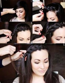 Ladies Hair Styles Tutorials...: Hair Ideas, Bang Braid, Hairstyles, Hair Styles, Front Braid, Braids