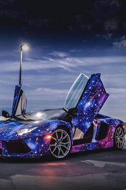 Lamborghini-hate these cars, but love the paint job!!: Sports Cars, Auto S, Galaxies, Cars, Dream Cars, Galaxy Lamborghini, Paint Job, Lamborghini Aventador