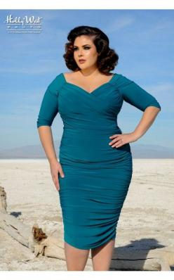 Laura Byrnes- Monica Dress in Dark Teal - Plus Size | Pinup Girl Clothing: Girl Clothing, Fashion, Style, Plus Size, Dresses, Pinup Girls, Dark Teal