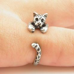 Leopard Animal Wrap Ring - Silver: Animal Wrap, Leopards, Jewelry, Rings, Wraps, Leopard Animal