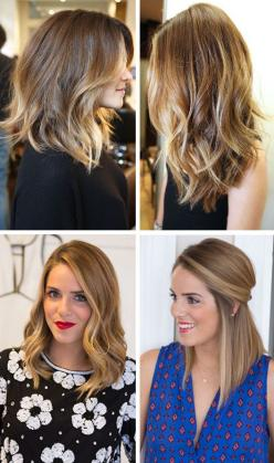 long bob.: Medium Length, Hairstyles, Long Angled Bob, Hair Styles, Hair Cut, Haircut, Long Bobs, Hair Color