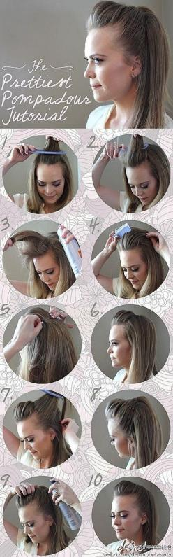long hair styles for women: Womens Hairstyles, Simple Hairstyles, Pompadour Hairstyle For Women, Hair Style, Latest Hairstyles, Women Hairstyles, Cute Hairstyles, Hairstyles For Women, Hairstyles For Working Women