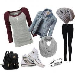 """Love everything, but shoes. I don't like those shoes. But I love the """"Hakuna Matata"""" sign on the bracelet.: Style, Dream Closet, Beanie, Fall Outfit, Hipster Outfit, Fall Winter, School Outfits"""