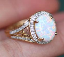 LOVE LOVE LOVE OPALS. It's my birthstone and I'm absolutely obsessed. Need to get a nice piece of opal jewelry someday, not necessarily a ring though: Opal Rings, Wedding Ring, Dream Ring, Opal Engagement Ring, Nice Piece, Jewelry Someday, Opal Je
