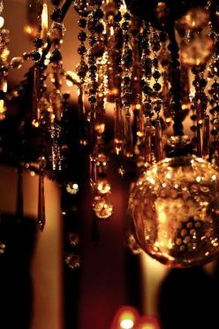 Love, love this!  So warm n' inviting!: Color Brown, Lights, Lighting, Copper, Amber, Chandeliers, Beautiful Brown, Gold