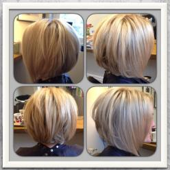 Love my new hair! Blonde highlighted inverted / graduated bob.: Hair Styles Techniques, Haircuts Color Hairstyles, Style Hair, Hair Cut, Short Hairstyles, 1 200 1 200 Pixels, Payton Hairstyles, 600 600 Pixels, Graduated Bob Haircut