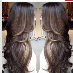 Love the hi-lights and low lights color and the amount of color. Mostly natural brown. Long brown hair with lowlights: Hair Ideas, Hair Colors, Hairstyles, Hair Styles, Haircolor, Long Hair, Makeup, Beauty