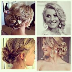 love the lower right hair style: Hair Ideas, Weddinghair, Hairstyles, Bridesmaid Hair, Hair Styles, Wedding Ideas, Makeup, Updos