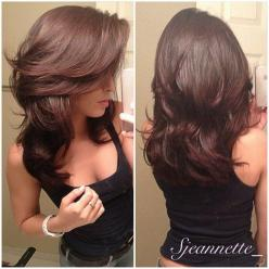 love this cut: Haircuts, Medium Length, Layered Cut, Hairstyles, Hair Styles, Hairdos, Hair Cut, Hair Color