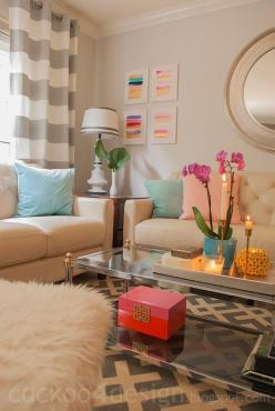 Love this living room color scheme, my couches are similar (about two shades darker). This could work!: Colorful Living Room, Living Rooms, Color Schemes, Livingroom, Apartment Living Room Idea, Living Room Decor Color, Apartment Decoration, College Apart