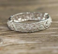 love this old fashioned looking wedding band.: Wedding Ideas, Weddings, Beautiful, Wedding Bands, Jewelry, Engagement Ring, Wedding Rings