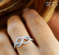 love you to infinity...love this as a right hand ring: Wedding Ring, Infinity Knot, Style, Infinity Rings, Anniversary Gift, Engagement Ring