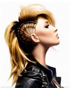 <3: Ideas, Hairstyles, Hair Styles, Makeup, Braids, Mohawks, Beauty, Punk