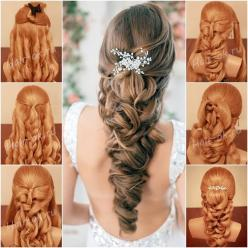 "<input class=""jpibfi"" type=""hidden"" ><p>Wedding is your chance to be a star for a day, here we find another relatively easy way to make half up half down wedding bride hairstyle with loose curls, hope it makes you shine on your"