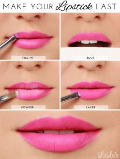 LuLu*s How-To: How to Make Your Lipstick Last Beauty Tutorial: Makeup Tutorial, Lipsticks, Beauty Tutorials, Make Up, Beauty Tips, Idea, Beauty Makeup, Hair