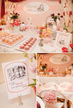Mad Hatter Tea Party // Hostess with the Mostess®  Alice in wonderland birthday party ideas-- invitation, decoration, cake, cupcakes, dessert table, party favors: Tea Party, Mad Hatter Decorations, Mad Hatters, Hatter Tea, Tea Parties, Wonderland Party, B
