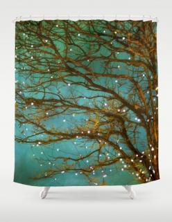 Magical Shower Curtain Bathroom home decor tree- artist has several beautiful curtains.: Bathroom Shower Curtain, Christmas Shower Curtain, Christmas Bathroom, Curtain Shower Curtain, Art Piece, Christmas Curtain, Artist