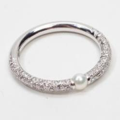 Magnificent Mikimoto Ring: Diamond Pearl Ring, Bridal Romance Weddings Rings, Mikimoto Pearls, Band, Magnificent Mikimoto, Diamond Rings, Diamonds, Mikimoto Ring