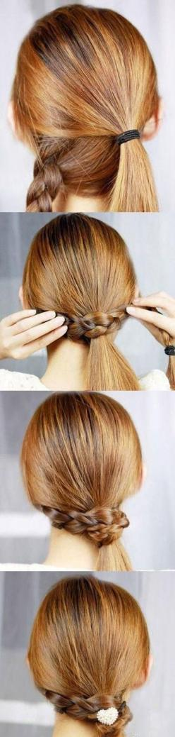 Making a simple ponytail awesome: Pony Tail, Ponytail, Hairstyles, Hair Styles, Hairdos, Makeup, Hair Do