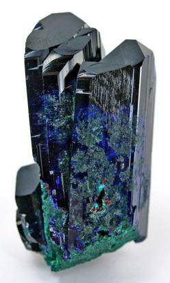 Malachite on Azurite  some day soone I will have enough money that I will drive to the Tucson gem and mineral show and buy anything I like. jk: Crystals Gemstones Fossils, Precious Stones, Crystal, Gem Stones, Rocks Minerals, Gems Stones, Gemstones Crysta