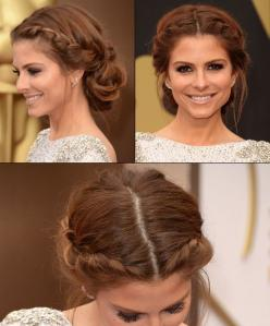 Maria Menounos with beautiful braids at the Oscars 2014: Braided Updo, Middle Part, Wedding Hair, Prom Up Do, Easy Prom Updo, Updo With Braid