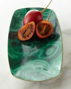 Medium Malachite Tray by L'Objet at Neiman Marcus: Trays, Cat, Medium Malachite, Tabletop Entertaining, Malachite Tray, Tray Neiman, L Objet Medium