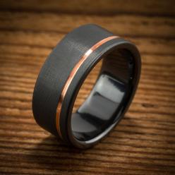 Men's Wedding Band Comfort Fit Interior Black Zirconium by spexton: Wedding Ring, Wedding Ideas, Men Wedding Bands, Black Zirconium, Rings