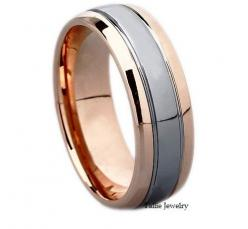 Mens 14K White and Rose Gold Wedding Band Ring  7MM Wide  Sizes 4-12  Free Engraving  New on Etsy, $475.00: Mens Rose Gold Rings, Mens Rose Gold Wedding Bands, Mens Rose Gold Wedding Ring, Rose Gold Mens Wedding Band, Mens Wedding Bands Rose Gold, Rose Go