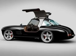 Mercedes 300 SL Panamericana - It is amazing how well this 60 year old Automotive Design, still holds up. Refreshed with some more modern rims and lower profile tires, this Mercedes still turns heads and stands out as a complete object of desire - testame