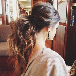 Messy Ponytail for Girls - Best Long Hairstyles for Spring 2015: Messy Ponytail, Hairstyles, Hair Styles, Long Hair, Hair Makeup, Pony Tails, Beauty, Messy Pony Tail, Updo