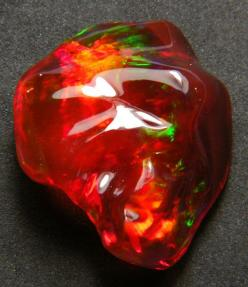 Mexican carved opal           I would call this Strawberry opal.: Gemstones Minerals, Colorful Gemstones, Fossil, Mexican Carved, Strawberry Opal