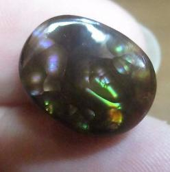 MEXICAN Fire Agate   Gem All Natural  Free Form Multi-colored 11x14: Crystals Gems, Fire Agates