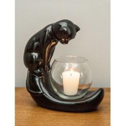 Miaw?♥: Cats, Gift Ideas, Candle Holders, Curiouser Candle, Candles, Black Cat, Cat Lady