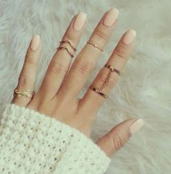 Midi Rings are an absolute must-have in your wardrobe! They are one of the smallest, and biggest staples of the Season!: Fashion, Midi Rings, Style, Jewelry, Nails, Accessories