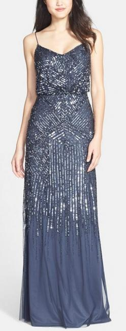Midnight blue sparkle gown by Adrianna Papell http://rstyle.me/n/vi24in2bn: Prom Gowns, Bridesmaid Dresses, Beautiful Prom Dresses, Fashion Dresses Party, Beautiful Dresses Formal, Beaded Gown, Formal Gowns, Beautiful Formal Dresses