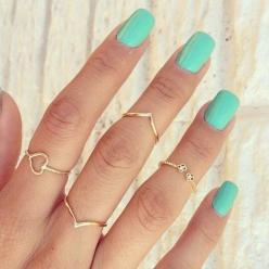 Mississippi Hippy: Lets Talk Midi Rings: Midi Rings, Style, Jewelry, Mint Nail, Nails, Accessories, Nail Art
