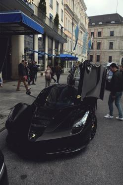 mistergoodlife:      Blacked out LaFerrari | Mr. Goodlife | Instagram: Black Ferrari, 2015 Laferrari, Supercars, All Black, Ferrari Laferrari Black, Dream Cars, Black Laferrari, Batmobile