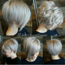 Modern Short Hairstyles - versatile bob 9560 1467 4 Casey D My Style Dana Hayes-Chandler Love the style: Short Hair Cut, Hair Styles, Short Modern Haircut, Versatile Bob, Short Hairstyles, Shorts, Short Bob Hair Cut, Hair Color